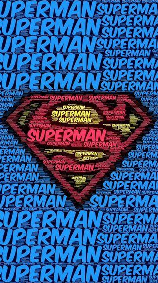 Обои на телефон слова, супермен