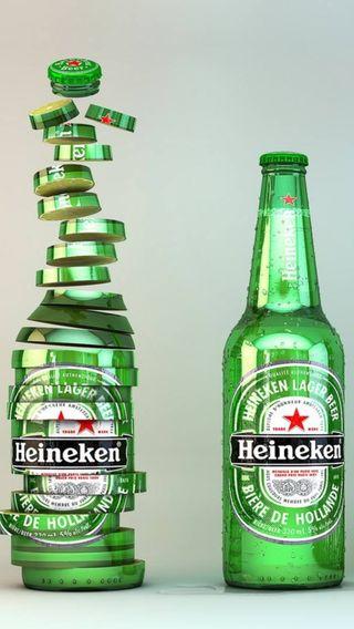 Обои на телефон хейнекен, бутылка, забавные, heineken, biere de hollande