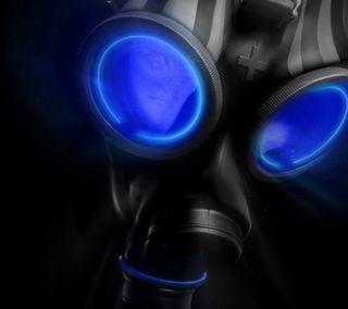 Обои на телефон жуткие, ужасы, темные, страшные, синие, маска, готические, газ