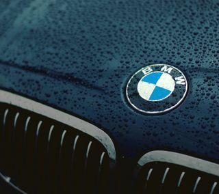 Обои на телефон капли дождя, эмблемы, мокрые, логотипы, значок, бмв, bmw