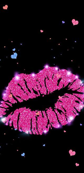Обои на телефон губы, симпатичные, сердце, сверкающие, розовые, красочные, блестящие