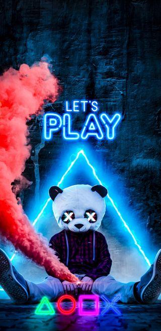 Обои на телефон игровые, технологии, тема, панда, неоновые, жизнь, gaming life
