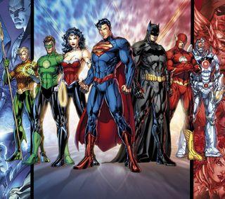 Обои на телефон супермен, справедливость, лига, комиксы, бэтмен, dc