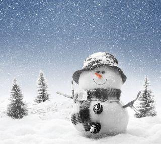 Обои на телефон каникулы, счастливые, снеговик, случаи, рождество, зима