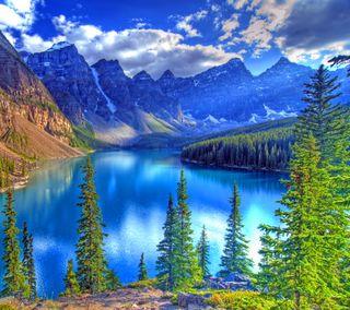 Обои на телефон озеро, природа, канада, горы, вода, nature canada, moraine