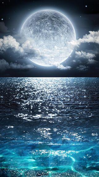 Обои на телефон луна, бесконечность, infinity
