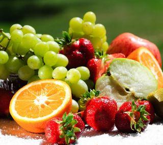 Обои на телефон фрукты, свежие, красочные