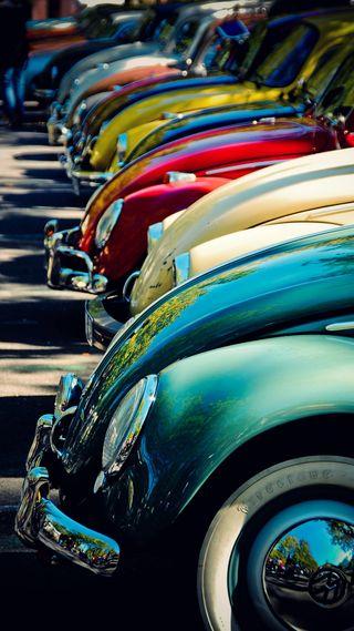Обои на телефон ок, старые, приятные, машины, крутые, классные, жук, винтаж, авто, old beetles