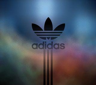 Обои на телефон размытые, черные, синие, логотипы, красые, золотые, адидас, adidas