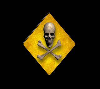 Обои на телефон опасные, череп, radiation