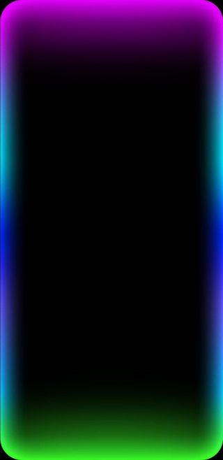 Обои на телефон экран, телефон, светящиеся, огни, граница, грани, логотипы, rot, phone wallpaper, border wallpaper