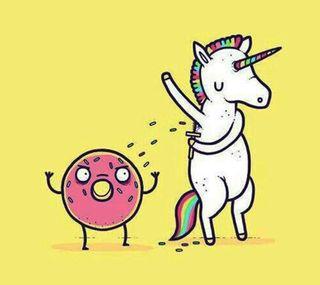 Обои на телефон единорог, радуга, unicorn3, doughnut