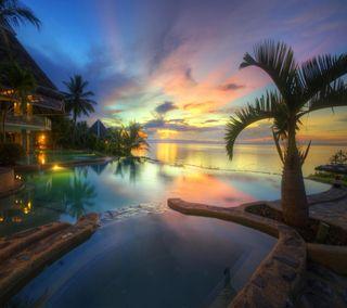 Обои на телефон рай, тропические