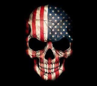 Обои на телефон usa, american skull, череп, флаг, америка, сша, американские, скелет, юнайтед