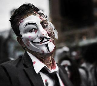 Обои на телефон эпичные, прогулка, зомби, анонимус, хэллоуин, montreal