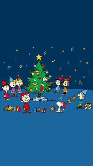 Обои на телефон снупи, рождество, коричневые, peanuts, charlie brown xmas