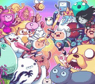 Обои на телефон приключение, время, pixel, adventure time pixel