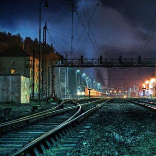 Обои на телефон пути, поезда, ночь, train tracks at nigh, tracks at night