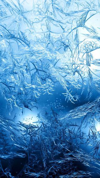 Обои на телефон холод, холодное, синие, окно, мороз, лед, абстрактные, frosty window