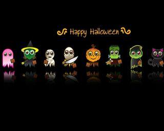 Обои на телефон тыква, черные, хэллоуин, счастливые, мультфильмы, игры