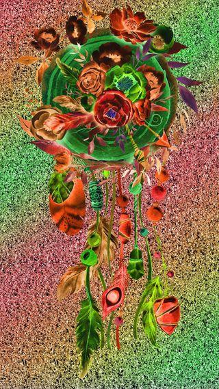 Обои на телефон ловец снов, цветы, рисунки, прекрасные, звезды, дизайн, блестящие, арт, абстрактные, art