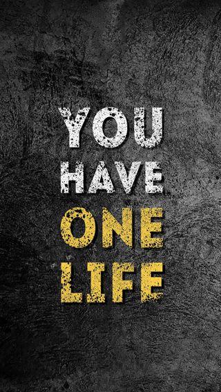 Обои на телефон цитата, текстуры, слова, серые, желтые, жизнь, высказывания, белые, one life, hd