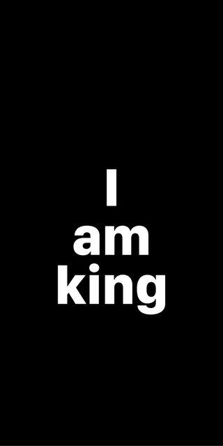 Обои на телефон простые, черные, цитата, текст, минимализм, король, дизайн, i am king