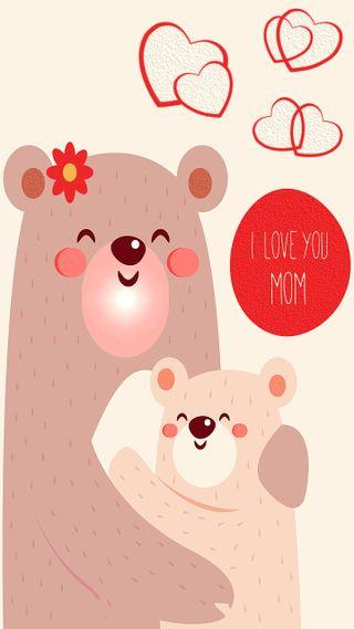 Обои на телефон сердце, милые, медведь, мама, любовь, son, parents, parental love, love, daughter