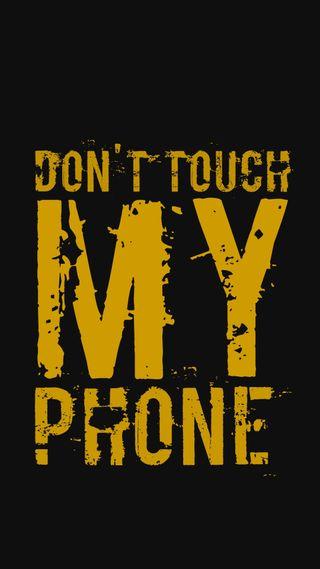 Обои на телефон экран блокировки, трогать, не, темные, телефон, мой, злые, желтые, айфон, wallpapper, iphone, dont touch i phone