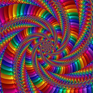 Обои на телефон спираль, цветные, абстрактные