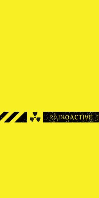 Обои на телефон экран блокировки, экран, радиоактивный, желтые, блокировка