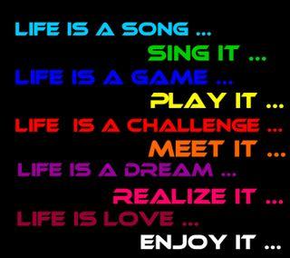 Обои на телефон песня, цитата, поговорка, новый, мечта, любовь, крутые, игра, жизнь, вызов, love, life is