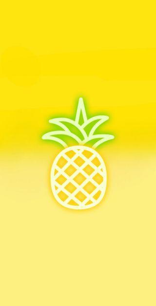 Обои на телефон неоновые, желтые, ананас, tumblr, neon pineapple, fondo