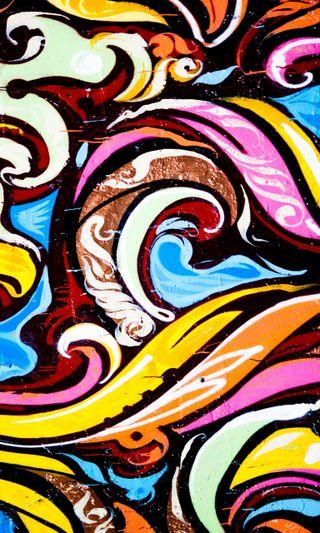 Обои на телефон городские, цветные, граффити, абстрактные