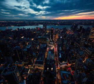 Обои на телефон сша, новый, закат, города, америка, usa
