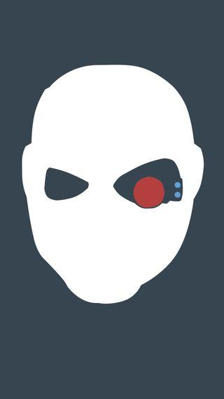 Обои на телефон самоубийца, отряд, минимализм, маска, smith, deadshot