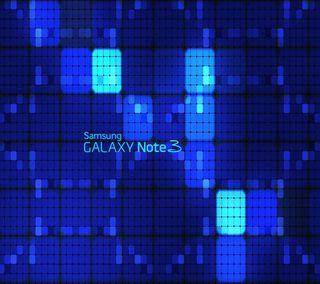 Обои на телефон квадраты, синие, самсунг, неоновые, логотипы, галактика, samsung, note3, galaxy