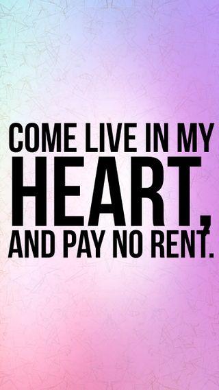 Обои на телефон pay, no rent, no, live