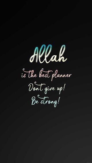 Обои на телефон будь, черные, слова, сильный, не, лучшие, аллах, up, planner, give