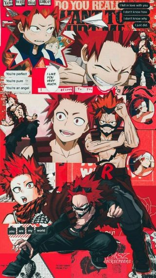 Обои на телефон бнха, эстетические, тема, красые, герой, боку, red theme, red riot, mha, kirishima
