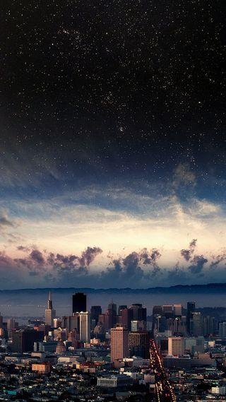 Обои на телефон город, приятные, прекрасные, новый, звезды, вид, perfect view