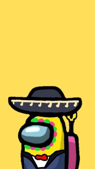 Обои на телефон мексиканские, желтые, видео игры, амонгас, амонг, us