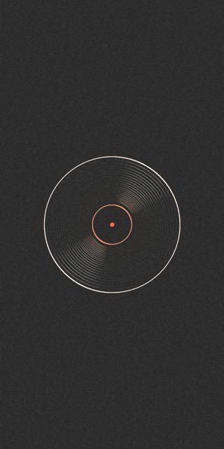 Обои на телефон ретро, черные, стиль, старые, музыка, линии, круги, vinyl, record, lp