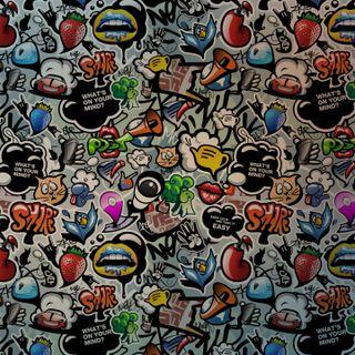 Обои на телефон граффити, ты, сумасшедшие, ретро, вещи, бум, бренды, арт, pengantinas, cores, art