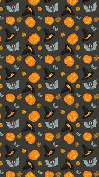 Обои на телефон шляпа, тыква, шаблон, хэллоуин, летучая мышь, ведьма, witch hat