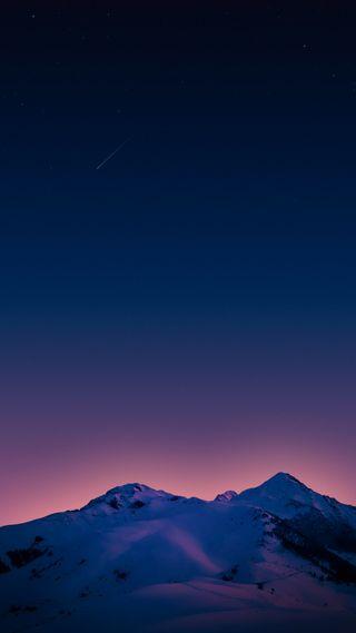 Обои на телефон симпатичные, небо, звезды, звезда, горы, восход, plus, one, hd