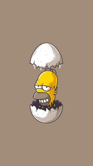 Обои на телефон яйца, симпсоны, гомер