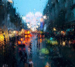 Обои на телефон путь, стекло, дорога, дождь, город, вода