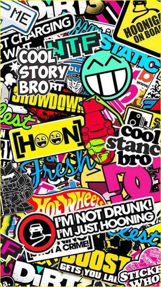 Обои на телефон скейт, наклейки, логотипы, бум, бомба, sticker bomb