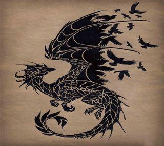 Обои на телефон тату, дракон, dragon